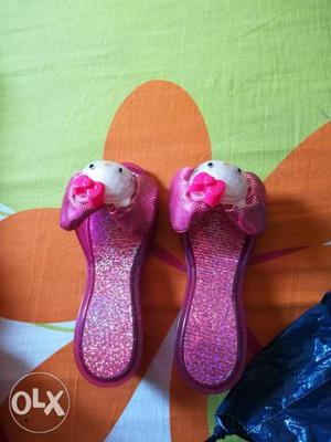 A pair of nice girls' sandals for the age of