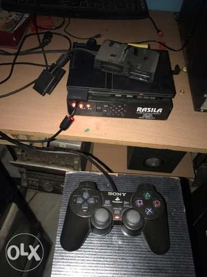 Ps2 with memory card and four controllers with