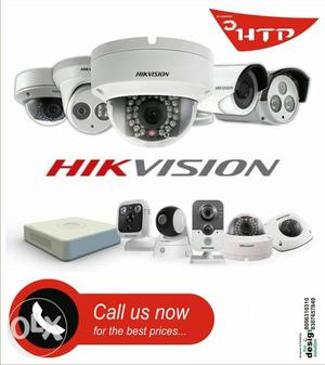 4 channel Hikvision and cp plus full set up with and 3 year