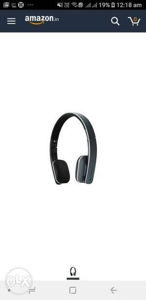 Black And Gray zebronics Wireless Headphones