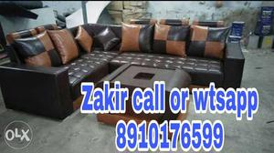 Leatherate l shape sofa set at affordable prices