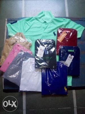 Round neck plane t shirt 150 u s polo t shirt 250