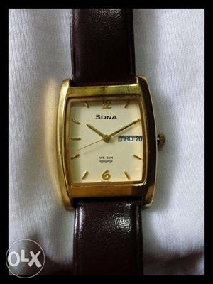 Sona Gold Plated Watch For Men