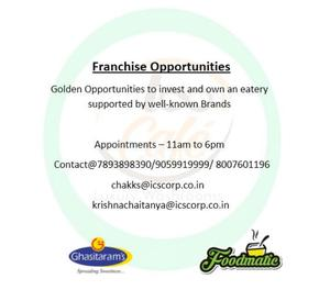 Franchise Opportunities for Food and Beverages Chain.