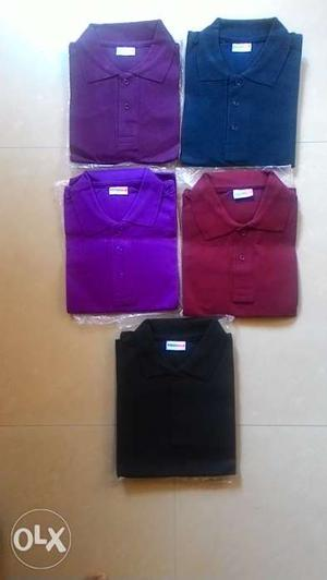 T shirt collar & without collar all size M, L,