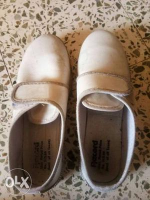 Hardly used white school shoes for sale, only