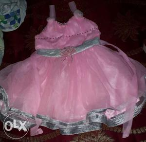 Pink frock for 1 year 6 months.