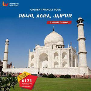 5 Nights and 6 Days Golden Triangle Tour Package $171/PP