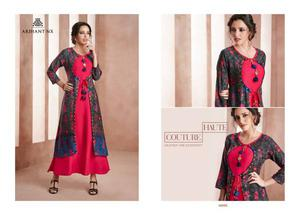 rihant nx bliss kurtis wholesale catalog FABRIC RAYON WORK