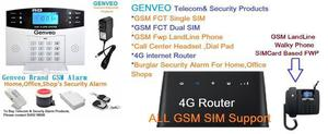 GSM SECURITY ALARM SYSTEM 92452986004G ROUTER GSM LANDLINE