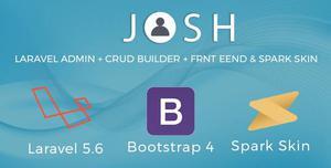 Laravel Admin Template + Front End + CRUD- Josh
