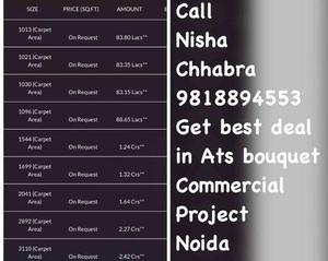 Nisha Chhabra 9818894553 ATS Bouquet Sector 132 Noida