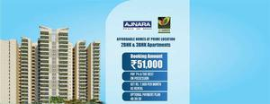 Ajnara Prime Tower offering 2,3BHK for booking Call us: