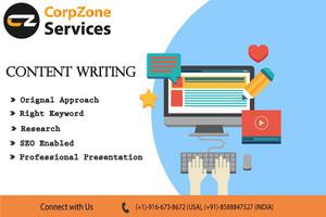 Corpzone Services Provides Content writing Services