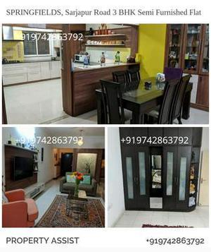 SPRINGFIELDS 3 BHK Semi Furnished Flat for SALE
