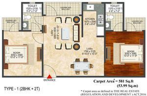2 bhk flat in LandCraft River Heights RajNagar extension