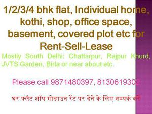 all type commercial property for rent in chattarpur