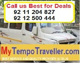 Tempo Traveller Hire in Delhi Noida Gurgaon, Tempo Traveller