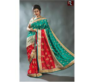 Multicolor Designer Saree with Brasso net Kolkata