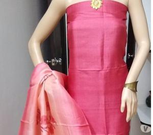 Tussar silk top and dupatta cotton silk bottom price- rs260