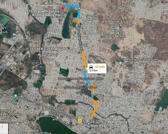 HUDA plot 267 sq yards Ameenpur/Beerumguda for SALE - clear