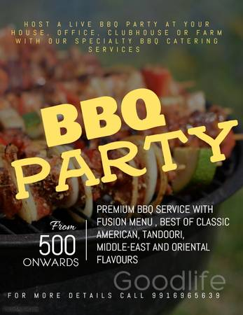 Live BBQ Catering for your parties and events