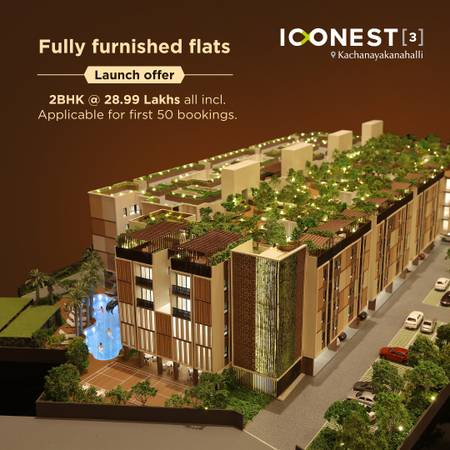 2BHK fully furnished flat for sale
