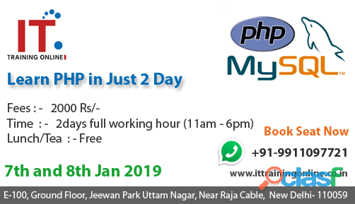 If you are searching to Learn PHP & MySQL in 2 Days