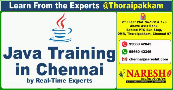 Best Java Training Institute in Chennai, OMR, Thoraipakkam