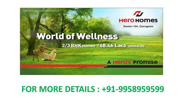 hero homes payment plan hero homes sector 104 Dwarka expres