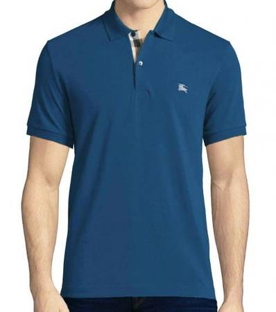 BURBERRY Regata Blue Classic Fit Polo