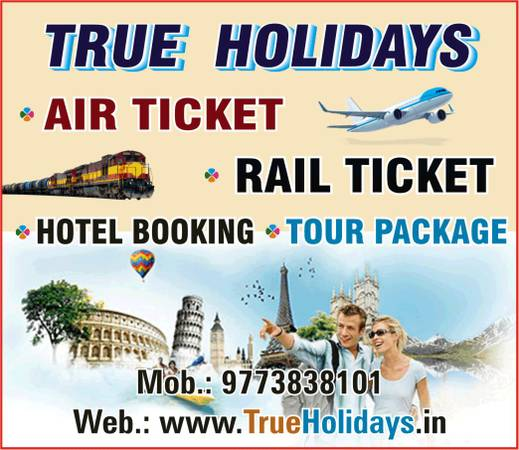 Flight Ticket, Bus Ticket, Hotel Booking, Tour Package