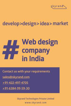 Web design company in India, best website designing company