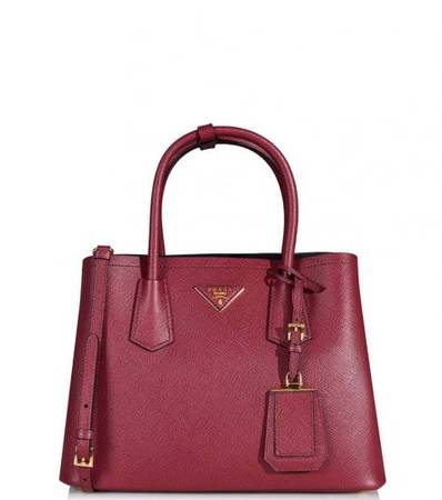PRADA Maroon Classic Medium Satchel at Darveys