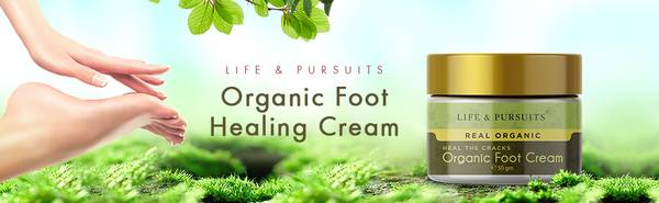 Life and Pursuits Organic Foot Cream For Cracked Heels