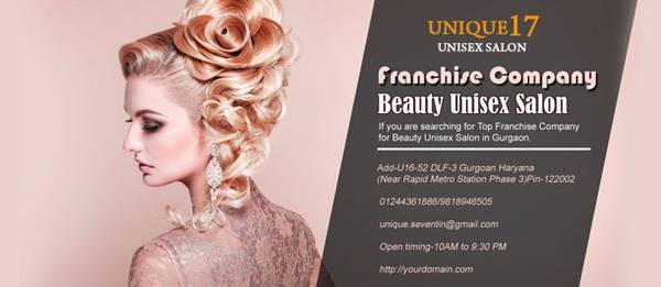 Top Franchise Company for Beauty Unisex Salon in Gurgaon