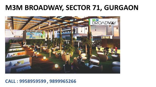 M3m broadway sector 71 Gurgaon m3m broadway sector 71 price