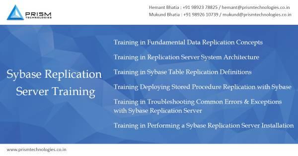 Sybase Replication Training Mumbai Pune Bangalore Delhi