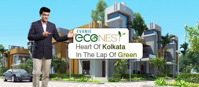 3BHK Residential flat for sale at Evanie Econest in Newtown