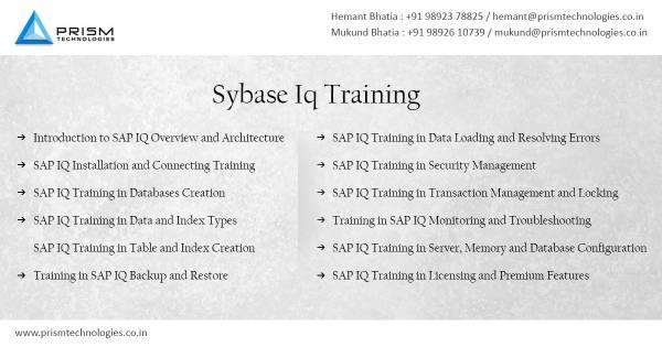 Sybase IQ Training Mumbai Pune Bangalore Delhi Chennai India