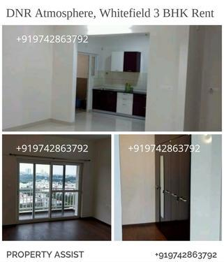 DNR ATMOSPHERE: 3 BHK Semi Furnished Flat for RENT