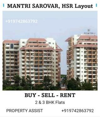 MANTRI SAROVAR 3 BHK Semi Furnished Flat for RENT