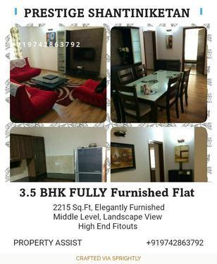 Prestige Shantiniketan: Fully Furnished 3.5 BHK Flat For REN