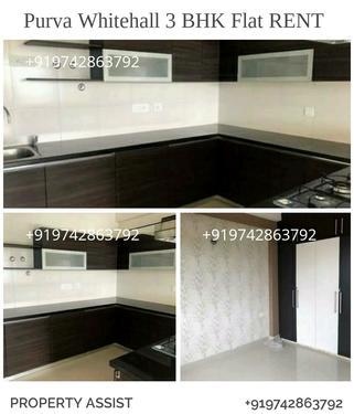 Purva WHITEHALL: Semi Furnished 3 BHK Flat for RENT