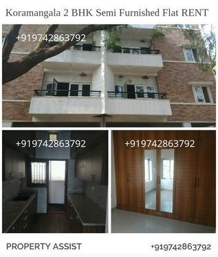 Vivek Nagar 2 BHK Semi Furnished Flats for RENT