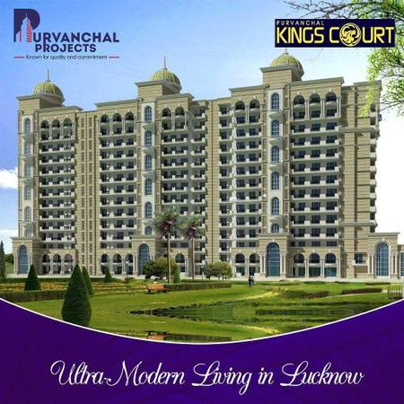 Purvanchal Kings Court - Luxury 3BHK+SQ Apartments in 1.23