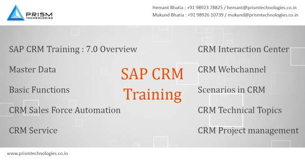 SAP CRM Training In Mumbai Bangalore Pune Hyderabad Chennai