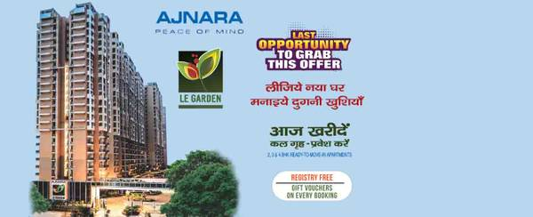 Ajnara Le Garden provides 2 bhk for booking Call Us: