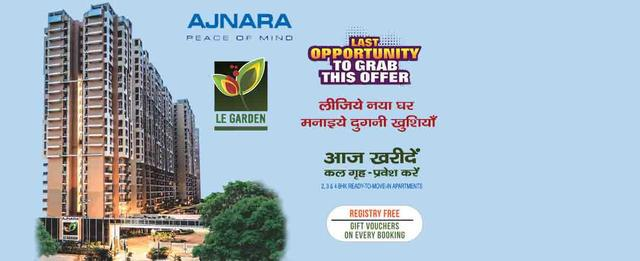 Ajnara Le Garden provides 2 bhk Call Us 09071760760