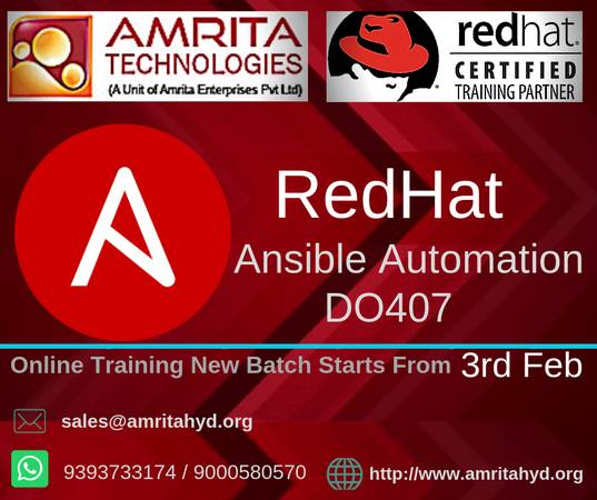 RedHat AnsibleAutomationD Training in Hyderabad
